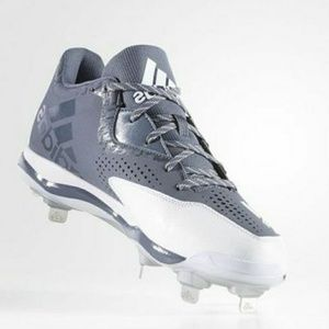 Adidas Baseball Cleats Grey Size 17 Large Athletic